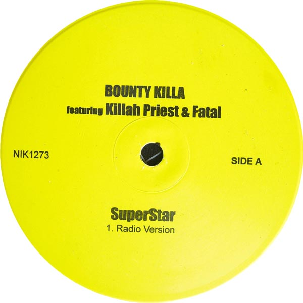"Bounty Killer Feat. Killa Priest - Superstar 12"" Vinyl"