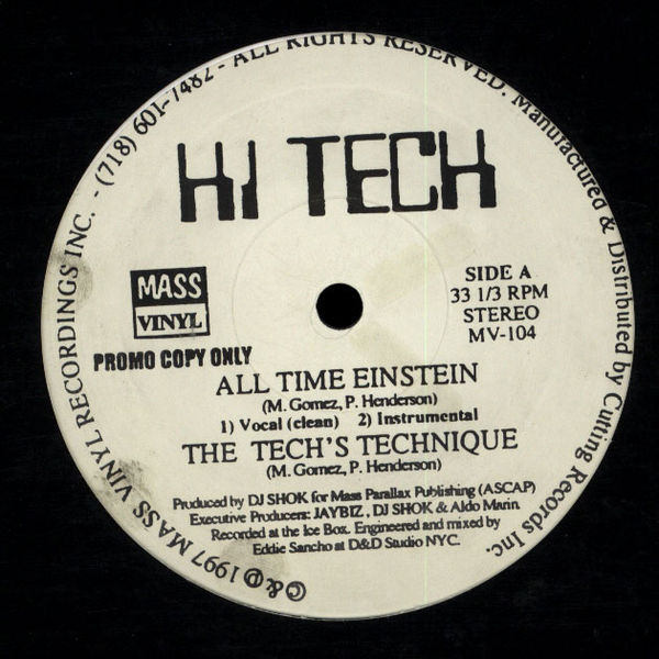 "Hi-Tech - All Time Einstein / The Techs Technique 12"" Vinyl"