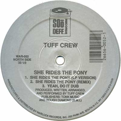 "Tuff Crew - She Rides The Pony 12"" Vinyl"