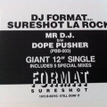 "DJ Format Feat. Sureshot La Rock – Mr D.J. / Dope Pusher 12"" Vinyl"