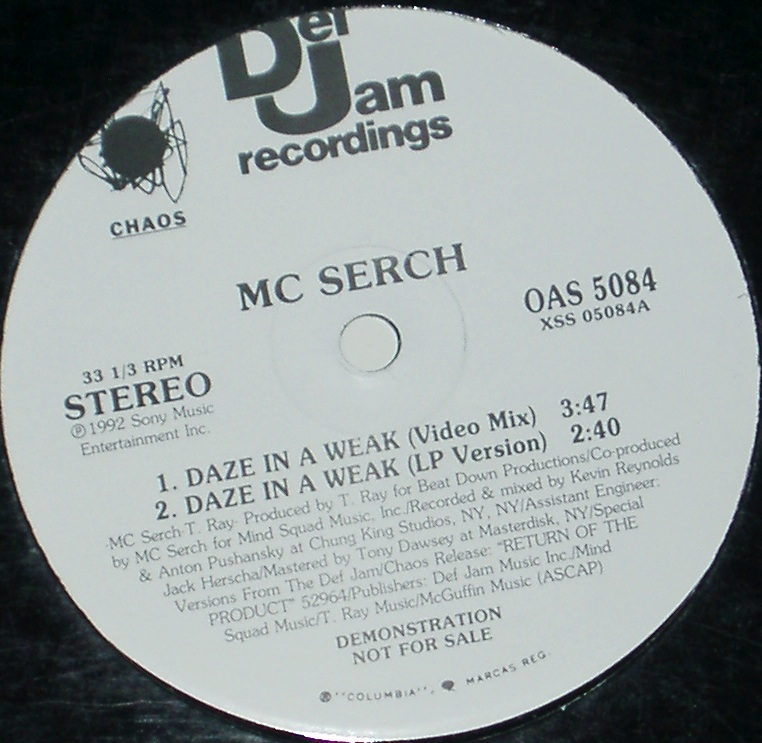 "MC Serch - Daze In A Weak 12"" Vinyl"